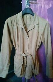 Women's Beige Jacket Excellent Condition