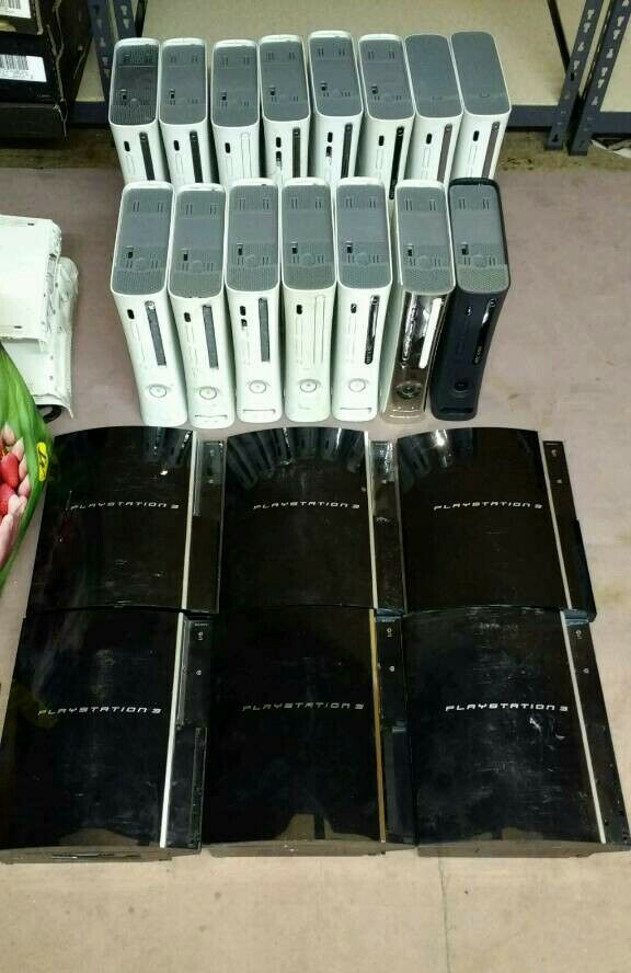 Job Lot 15 Xbox 360 and 6 PS3 Consoles Spares or Repair plus Other