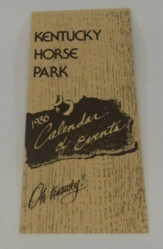 Brochure 1986 Calendar of Events Kentucky Horse Park Lexington Oh Kentucky!