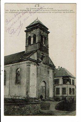 CPA-Carte Postale-France-Romagny- son église après le bombardement 1914-1918