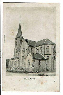 CPA-Carte Postale- FRANCE-Mécrin,son église bombardée 1914 -VMO15561