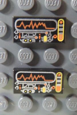 Lego Space Stein 1 X 2 Schaltung & Display Muster 6975 6900 6999 6836 6979 Viele Display-muster
