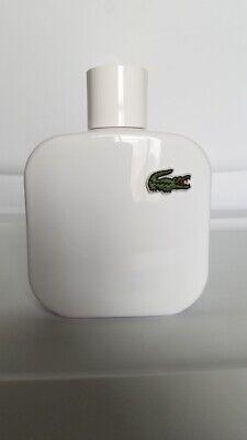 Lacoste L.12.12 Blanc Pure EDT men's cologne 3.3oz/100ml 97% full