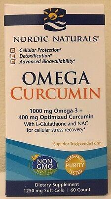 (New) Nordic Naturals Omega Curcumin 1250 mg 60 Softgels