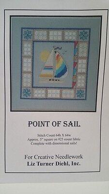 Cross Stitch Chart Point Of Sail Embellished Needlework Design Liz Turner Diehl