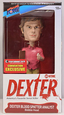 Dexter Blood Spatter Analyst Bobble Head Pink Shirt SDCC Exclusive