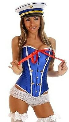 Sexy Lingerie Strapless Corset Bustier Pin-Up Sailor Women's Halloween Costumes](Halloween Costumes Corsets)
