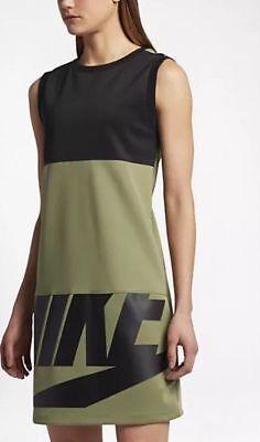 Nike Women's Sportswear NSW Irreverent Dress SZ MEDIUM Palm Green 843484 387 NWT