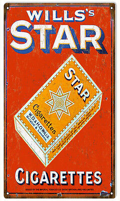 Wills Star Cigarettes Advertisement Reproduction Sign