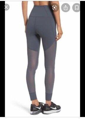 ZELLA Gray Mesh Panel High Waisted Leggings Women's Size Large