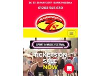 2x adult weekend tickets to Bournemouth 7s festival