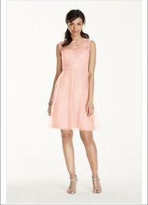 New Davids Bridal bridesmaid dress size 26 (24) pink