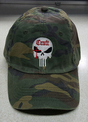 NEW Craft International Camo Punisher Skull logo 15% to Wounded Warrior Project - Craft International Hat