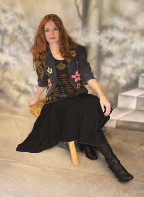 Gothic Pagan Wicca Sweatrock Skirt Hexenrock Zipfelrock Mythea 36 38 40 42 - Pagan Hexe Kostüm