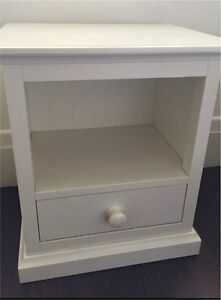 Solid wood white bedside table Mosman Mosman Area Preview