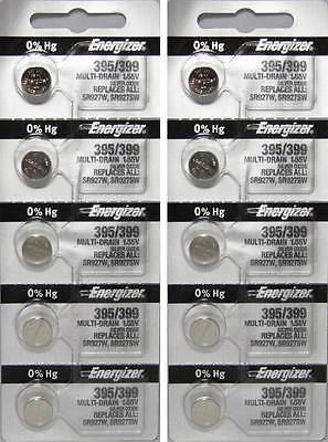 Energizer Silver Oxide 395 Battery x 10