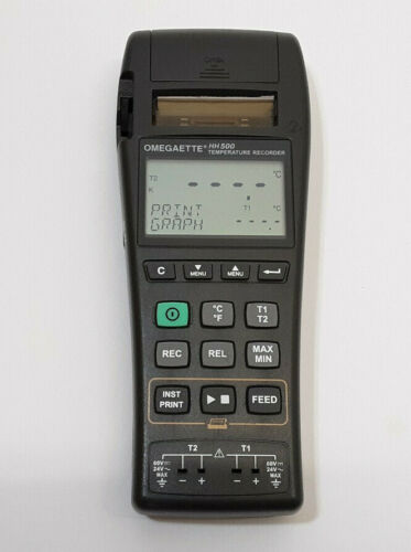 Omega HH500 2 Channel Datalogger Thermocouple Thermometer w/ Printer