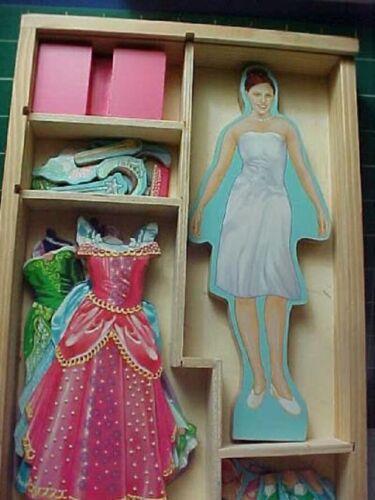 Melissa & Doug Wooden Magnetic Dress Up Princess Paper dolls