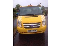 Euro 5, ford transit tipper 2013,tow bar,cage.1 owner