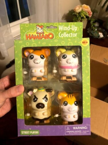 Hamtaro Street Players Wind-Up Collector 4 Pack Hamsters
