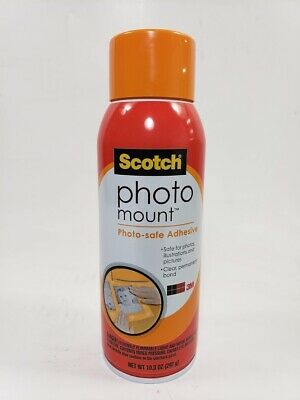 Scotch Photo Mount Photo Safe Spray Adhesive 6094 10.3 Oz 1 Can Increments