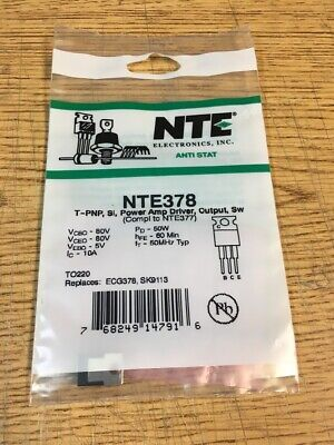 Nte378 T-pnp Si Power Amp Driver Output Sw