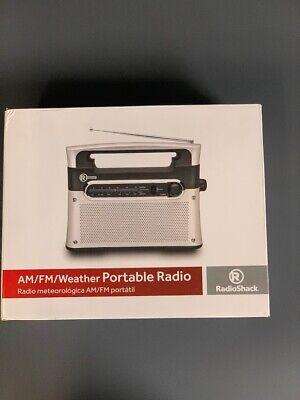 Radio Shack Analog AM FM Weather Radio 1200889 Portable - Batteries included