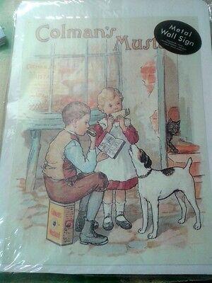 Wandschild Eisen Colmans Blechschild   Reklame & Werbung Vintage  Haus+Hof