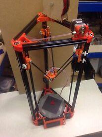 Kossel Mini Delta 3d Printer. Assembled, testing and working!