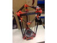Kossel Mini Delta 3d Printer. Assembled, testing and working!