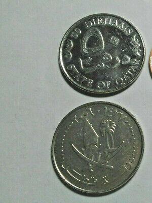 QATAR, MODERN COIN PAIR, 25 & 50 DIRHAMS