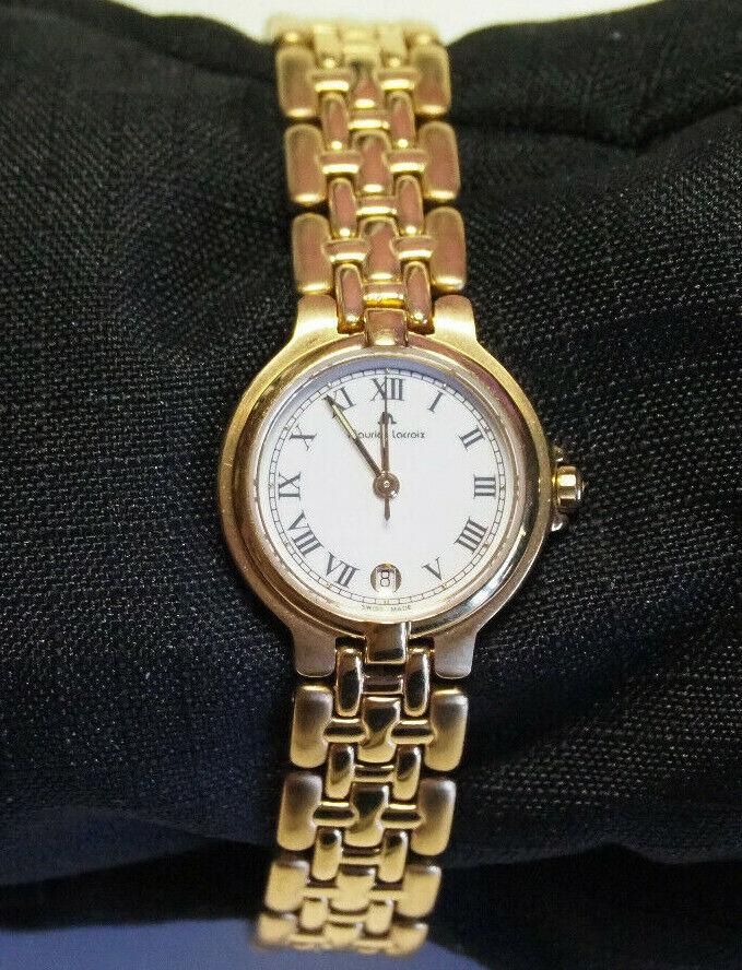 vergoldete schweizer Damenuhr Maurice Lacrois Modell 79636