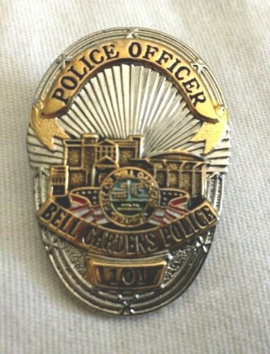 RARE Police Commemorative Lapel Pin Los Angeles County Bell Gardens CA