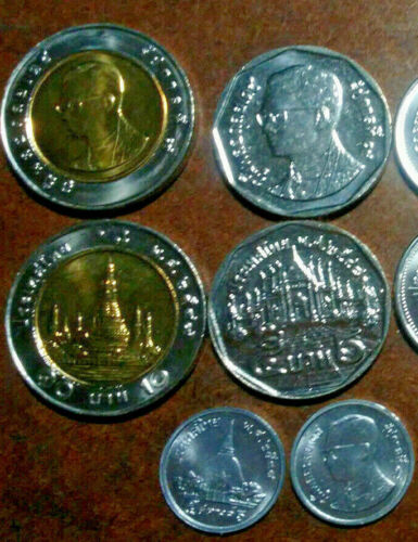 THAILAND: 8 COIN UNCIRCULATED SET, 0.01 TO 10 BAHT