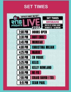 RnB Fridays Live Brisbane 21 October