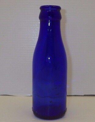 "VINTAGE BROMO-CEDIN COBALT BLUE GLASS BOTTLE 5-1/2"" W/ MARKINGS (FOR HEADACHES)"