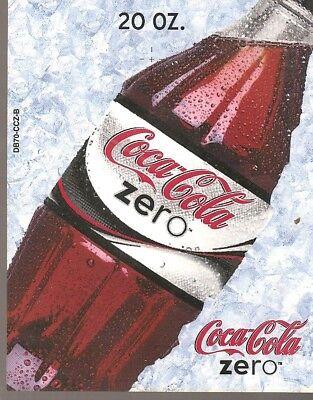 Coca-Cola Zero 20oz Bottle Vending Machine Sign