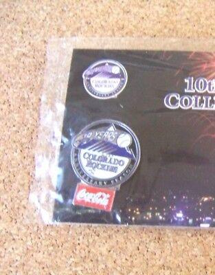 2002 Colorado Rockies Pin  10 Coca Cola King Soopers 10Th Anniversary Year