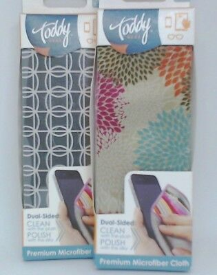 #519 Toddy GEAR (2pk) Premium Microfiber Smart Cloth iPad/Touch Screen Cleaning