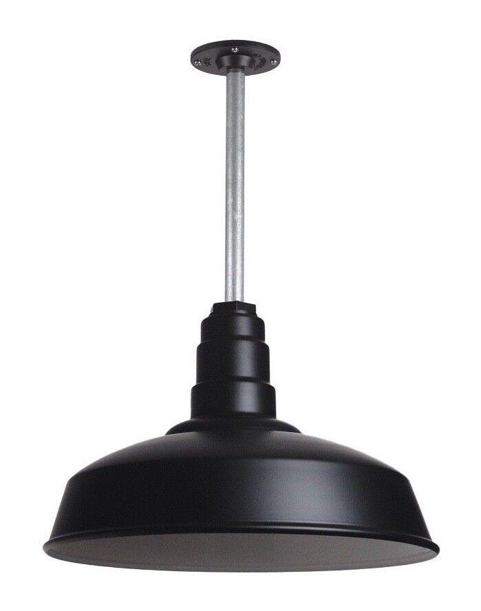 Ceiling Pendant 200 Watt Steel Lighting Fixture - Barn / Far