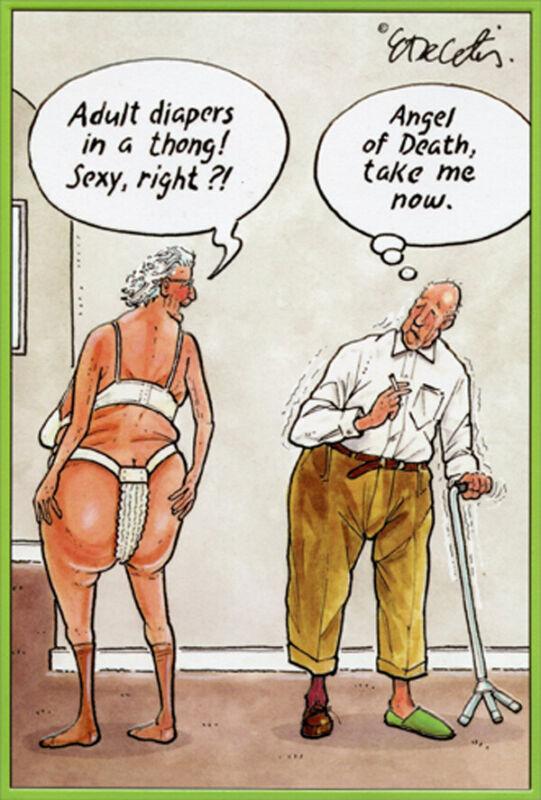 Adult Diaper Thong Eric Decetis Funny / Humorous Pictura Birthday Card