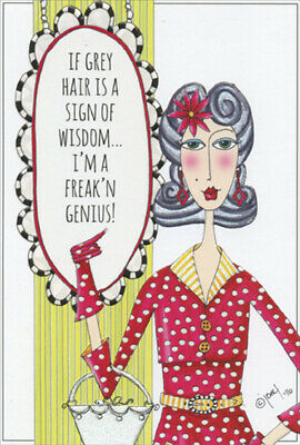 Sign of Wisdom Dolly Mamas Funny Feminine Birthday Card for Her / Woman - Signs Of Birthday