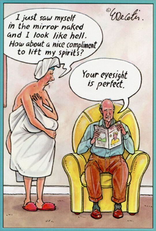 Perfect Eyesight Eric Decetis Funny / Humorous Pictura Anniversary Card