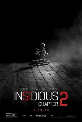 Insidious Chapter 2 Adv Intl  Coming Soon  Orig Movie Poster Double Sided 27X40