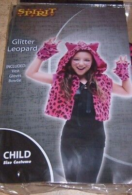 Cute PINK LEOPARD Halloween Costume GIRLS ONE SIZE FITS MOST NEW PANTHER CAT