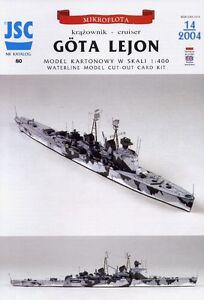 HSwMS-Gota-Lejon-Swedish-Cruiser-Card-Model-in-Scale-1-400