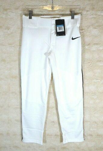Nike Boys Pro Dri-Fit Baseball Vapor Pants White/Gray NWT