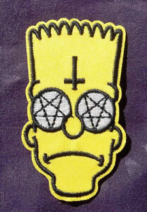 BART PATCH SATANIC EVIL BART 666 PENTAGRAM HEAVY METAL BIKER PUNK