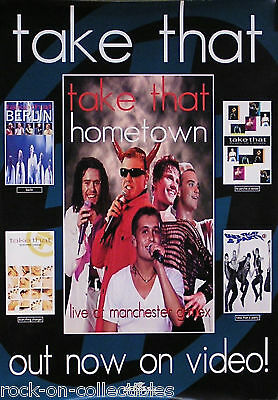 ROBBIE WILLIAMS TAKE THAT 1995 HOMETOWN VIDEO POSTER
