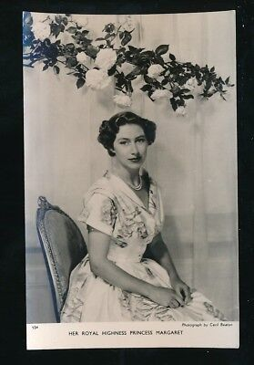 Royalty HRH PRINCESS MARGARET Tuck c1950s? RP PPC